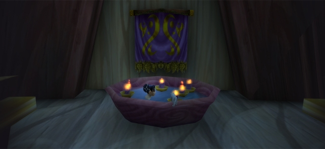 WoW Classic - Ula relaxing in elven hot tub
